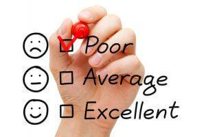 Poor Customer Service Evaluation Form