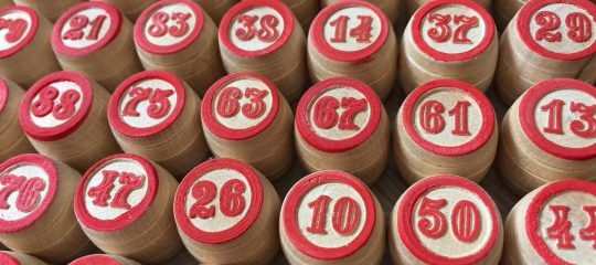 Rows of barrels with numbers