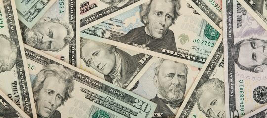 collage of U.S. paper money
