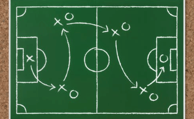 diagram of a sports field
