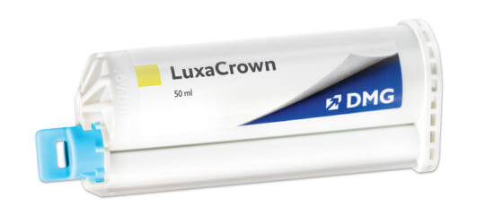 LuxaCrown dental material by DMG America